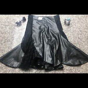 Black Steampunk Skirt Vintage